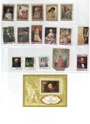 почтовые марки  СССР тема живопись и животный мир