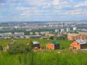 Красивый вид на город Красноярск