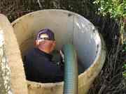 Установка септика ЖБ  под ключ и водопровод