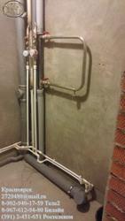 Замена труб в санузлах,  туалетных комнатах. Замена радиаторов. Красноярск 8-967-612-94-80