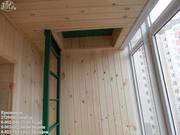 Внутренняя отделка балкона,  лоджии,  утепление,  обшивка вагонкой.