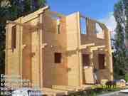 Бревно. Брус. Строительство деревянного дома. Сосна,  кедр,  лиственница