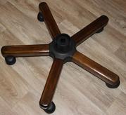 Крестовина (пятилучие) с колесами для ремонта руководительского кресла
