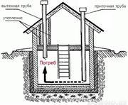 Монтаж и ремонт погреба,  подвала. Монолитные конструкции.