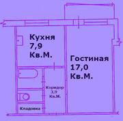 Продам 1 к.кв. ЛЕНИНГРАДКУ на ул.Железнодорожников,  18