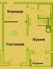 Продам 1 комн. квартиру на ул.Республики,  35! ВСЕГО : 2580 т.р.! ЦЕНТР