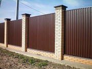Строим заборы из профлиста,  кирпичные,  сетка-рабица,  штакетник,  бетонн