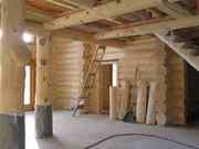 Строительство дома бани из бревна. Ручная рубка срубов. Красноярск
