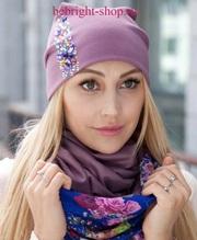 Снуд-шарфы и шапки ручной работы тм Be Bright