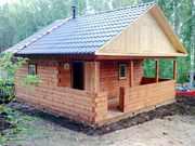 Строительство деревянного дома из бруса. Красноярск